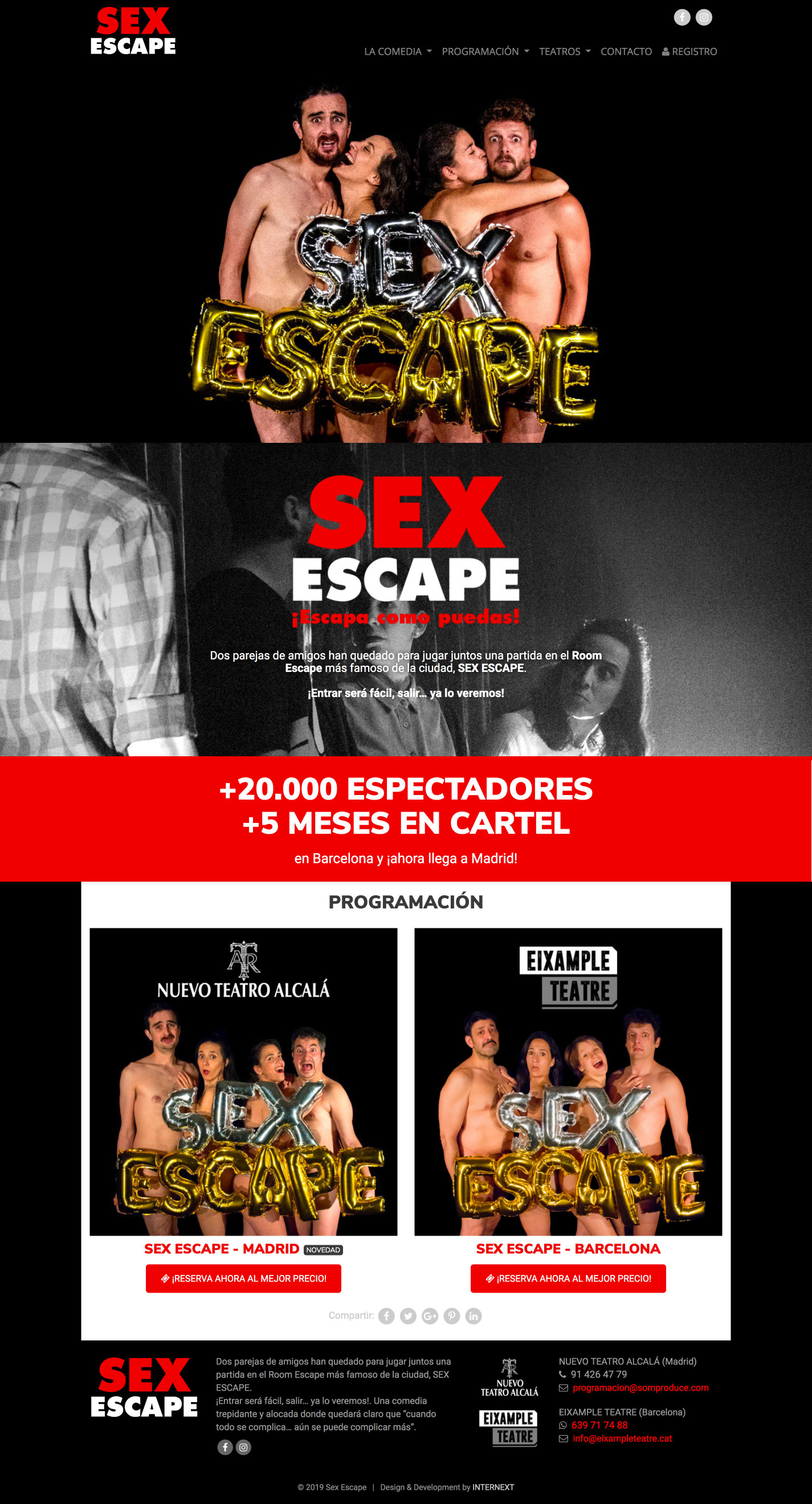 Diseño web Sex Escape
